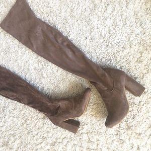 Shoes - OTK tan boots - faux suede